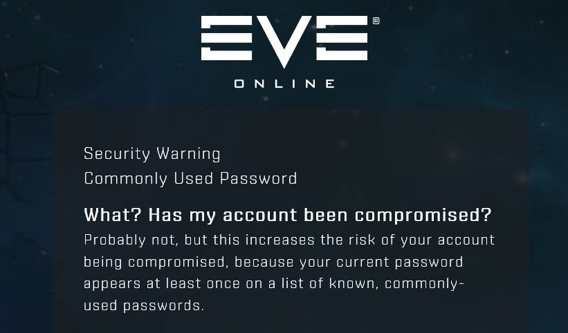 EVE Online account security - Part 1 - Pwned Passwords